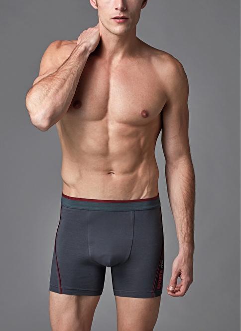 Eros Modal Lyc Renkli Boxer Antrasit